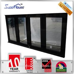 Superhouse Heat insulation AS2047 standard alumunium folding window with EPDM sealant