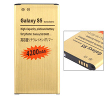 2015 New Arrivel Gold Business battery for Samsung Galaxy S5 battery , 3.8V 4200mAh Factory Price