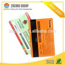 Best custom printing 4color swing plastic card