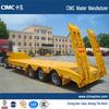 bulk cargo transport 30 ton low flatbed semi trailer