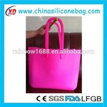 2012 wholesale silicone fashion shopping bag & foldable shopping bag