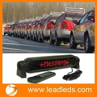 7x50dots universal remote control led display,led car message sign board