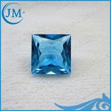 Square Shape Synthetic Aquamarine Blue Glass Stone