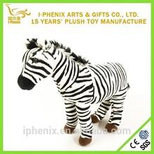 Children gifts lifelike zebra horse toy stuffed animal zebra plush horse toy