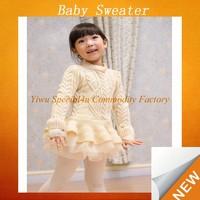 2015 spring baby girls sweater fashion design handmade baby sweater SFUS-005