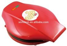 Hot sale ! Heart shape mini household electric waffle maker / cake maker