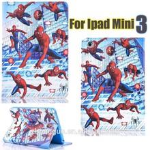 2015 new design pad cases for ipad mini 3 spiderman Ironman captain America cases for ipad mini 3
