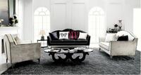 Italian high end velvet fabric sofa modern sofa furniture with unique shape legs