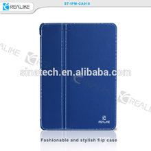 High Quality Tan Leather Case For Ipad mini 3 with Sleep Wake