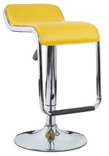 Soft PVC seat, chromed gas lift and base,height adjustable bar stool XH-205