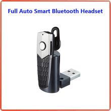 Completo del coche auto inteligente inalámbrico fácil de par bluetooth en la oreja auriculares