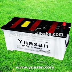 Yuasan Latest 12V 150AH Dry Batteries with Glass Fiber Separators-N150(12V150AH)