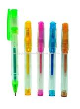 Plastic Transparent Multicolor Ink Fancy Mini Coloured Grip Gel Pen