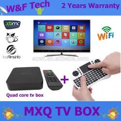 amlogic s805 quad core mxq ott tv box 4K H.265 Streaming Media Player XBMC preinstalled + I8 wireless keyboard