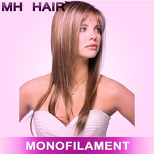 2015 mono top human hair lace front human hair wigs for white women