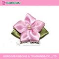 Pequenos arcos fita casamento-de-rosa, atacado laço de cetim fita apropriado para a roupa interior, pequenas flores de laços de fita de embalagem de presente rosa