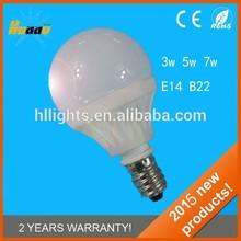 2015 High quality New Style energy saving e14 5W led lighting bulb