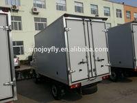 side tipping truck trailer fiberglass truck box