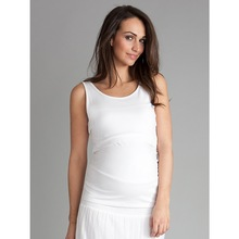 Top Quality Organic Cotton White Sleeveless Women's Maternity Top / Women's Customized Maternity Clothes