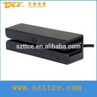USB magnetic card reader machine swipe 3-track hot selling gps magnetic card reader