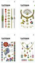 2015 Fashion Jewelry Custom Gold And Silver Foil Temporary Tattoo,Eagle Tattoo Designs Art