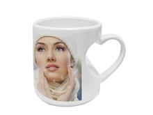 12oz Blank Heart Handle White Sublimation Ceramic Mug