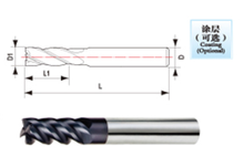 solid Carbide 1 Flutes End Mill