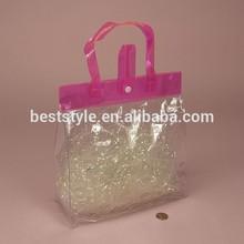 Ladies purse pvc shopping handle carry bag