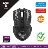 Extreme Cheap high quality Rubber Paint Skeleton Gaming mouse OE-M725