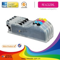 inkstyle compatible for brother high quality lc123 refill ink cartridge
