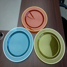 Neon Color Plastic Round Plates Made in China/White Disposable Plastic Plates/Disposable Plastic Party Dishes