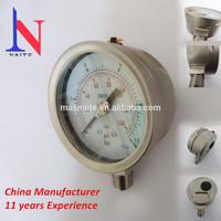 "4"" high quality IP 65 laser wedling pressure gauge"