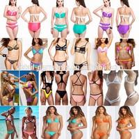 2015 Latest Sexy Push up Bikini Set Neoprene Swimsuit Padded Swimwear for Women Many Colors available