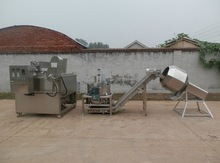 Green Pea Batch Bucket Fryer Frying Machine System