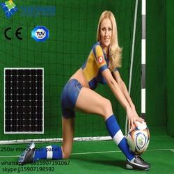 High efficiency A grade 60 cells 250w pv solar panel broken solar cells hot sale in China