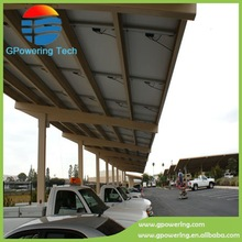 Modern Design Solar Carport / car parking lot for Hotel, School, Supermarket, exhibition hall and other public place