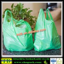 wholesale hdpe plastic t shirt bag for shopping