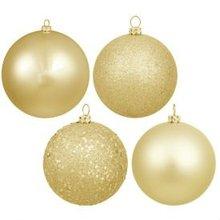 Popular Holiday Decoration beige plastic Ball