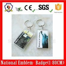 Double side Acrylic frame keychain,various shape logo keychain,photo keyring