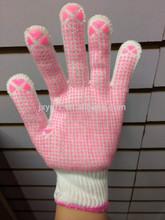 bleaching white cotton glove with pvc dots glove safety working glove