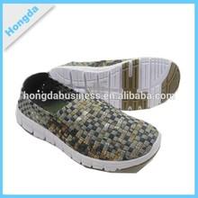 2015 popular design unisex casual walking sport shoes woven shoes