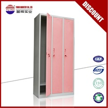lovely pink metal clothes storage locker for girls