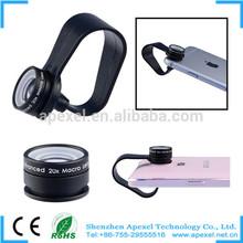 2015 New Factory Production Clip Mini lens mobile phone lens 20x macro lens for samsung galaxy APL-20XM