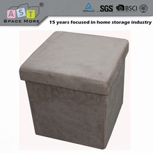 Good quality Microfiber Suede square storage ottoman