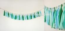 European Market Popular Party Decoration,Colorful DIY Party Favor Tissue Paper Tassel Garlands