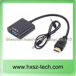 HD to VGA + Audio Adapter (Black)