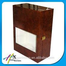Retro Style Wooden Wine Box Single Bottle Vintage Case