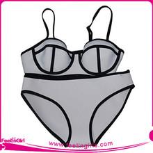 Gray Neoprene Bikini Triangle