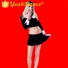 Sedutor Cool Black uniforme de colegial Outfit