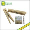 Natural madeira pregadores de roupa com forte mola de fio, prendedores de madeira
